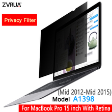 Protective-Film Screens Macbook for with Retina-Model A1398/PRIVACY-FILTER/SCREENS