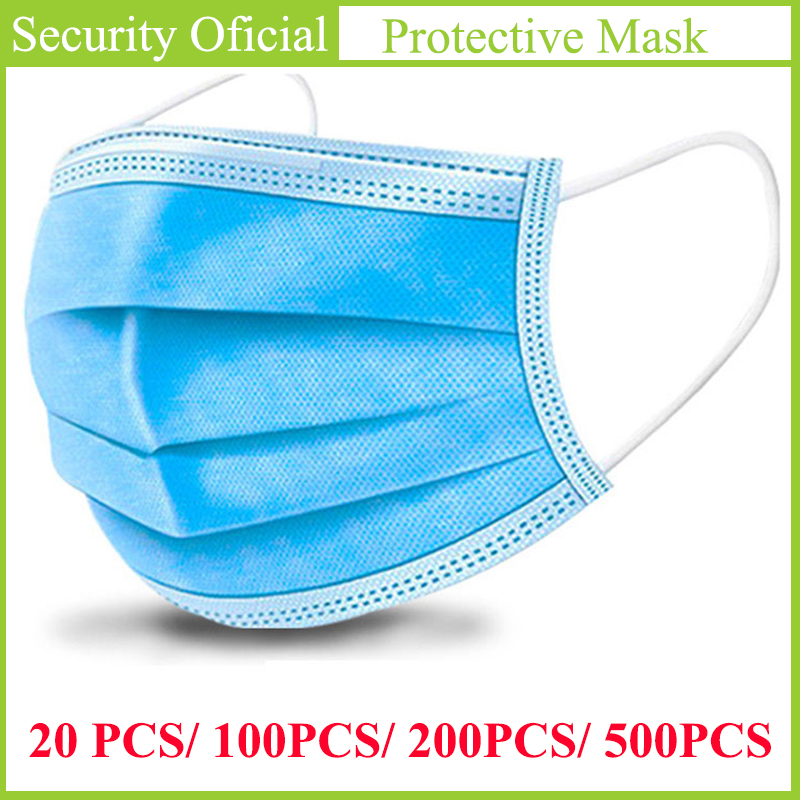 Daily Protective Mask 3 Layers Dustproof Face Cover Masks Anti-Dust Disposable Prevent Bacteria Anti-virus Masks For Kids Adult