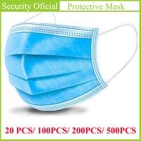 Täglichen Schutz Maske 3 Schichten Staubdicht Gesicht Abdeckung Masken Anti-Staub Einweg Verhindern Bakterien Anti-virus Masken Für kinder Erwachsene