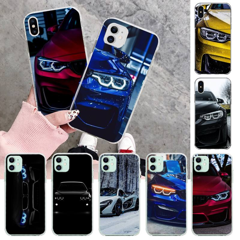Blue Red Car for Bmw Newly Arrived Black Cell Phone Case for iPhone 11 pro XS MAX 8 7 6 6S Plus X 5S SE 2020 XR cover image