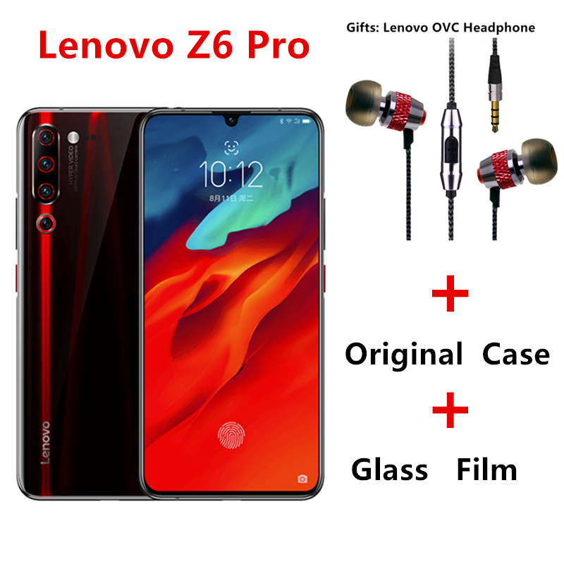 Global Rom Lenovo Z6 Pro Snapdragon 855  Android P ZUI 11 4G LTE 6.39 Inch Screen FingerPrint 4 Cameras 4000 MAh Face ID