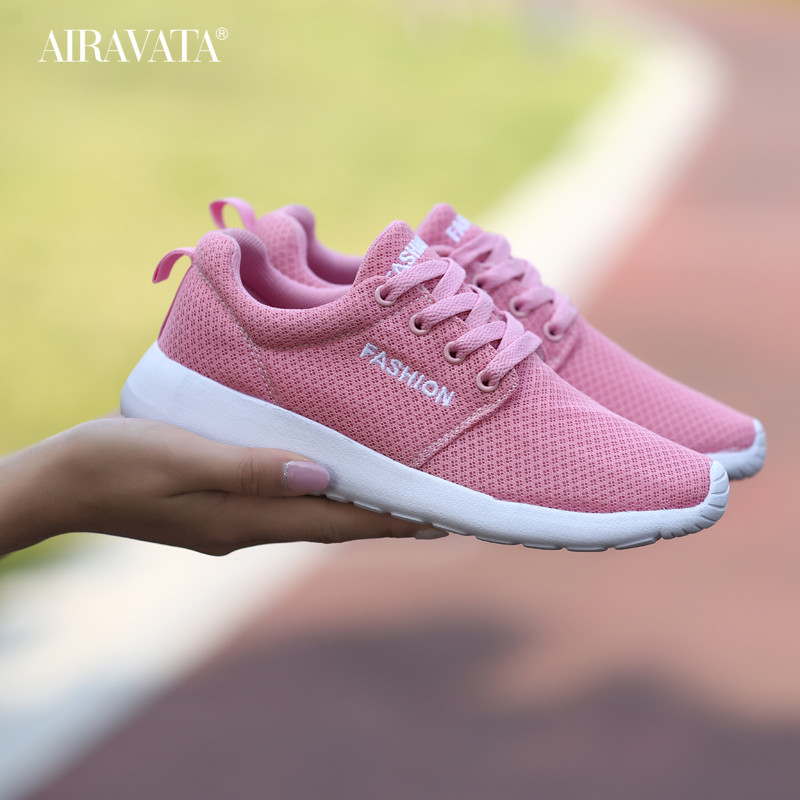 Women's Shoes Running Sports Casual Tennis Shoes Mesh Breathable Light Couple Sneakers
