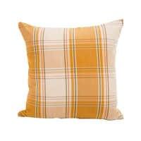 Оранжевая клетчатая полосатая наволочка для гостиной 45*45 см без внутренней площади полиэфирная хлопчатобумажная Наволочка на подушку X120