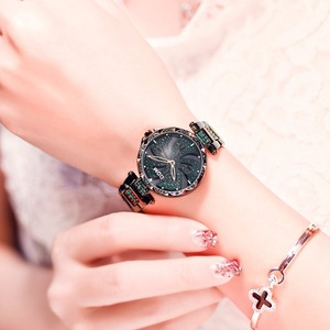 Image 3 - DOM Luxury Fashion Women Watches Lady Watch Stainless Steel Dress Women Bling Rhinestone Watch Quartz Wrist Watches G 1258BK 1MF