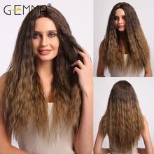 Gemma длинные кудрявые средняя часть синтетические парики для