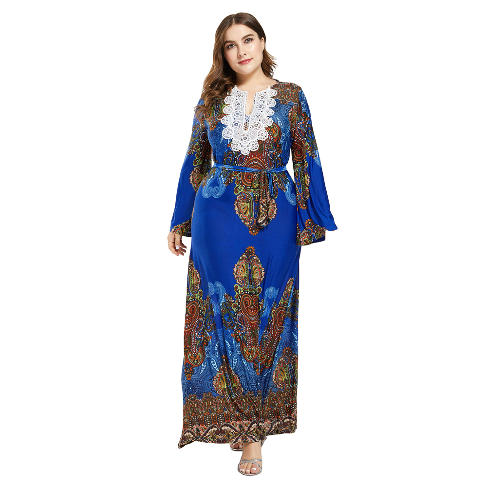 Plus Size 7XL Abaya Women Muslim Vintage Long Maxi Dress Islamic Robe Turkey Jilbab Abayas Arab Gown Party Ethnic Caftan Morocco image