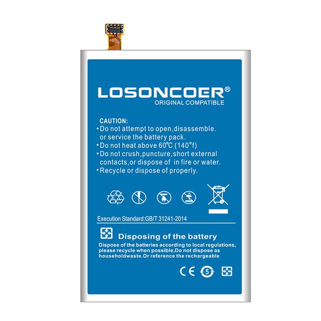 LOSONCOER 6700mAh S99 Good Quality Smart Phone Batteries For HOMTOM S99 Battery+Free Tools
