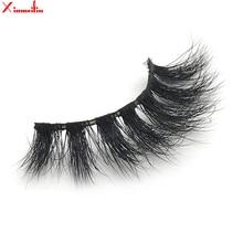 100% 3D real mink hair lashes wholesale natural long individual thick fluffy soft false eyelashes makeup dramatic J037