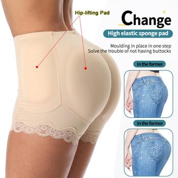 Enhancers Fake Ass Hip Butt Lifter Shapers Control Panties Padded Slimming Underwear Enhancer hip pads Pant 4pcs Pads Plus Size