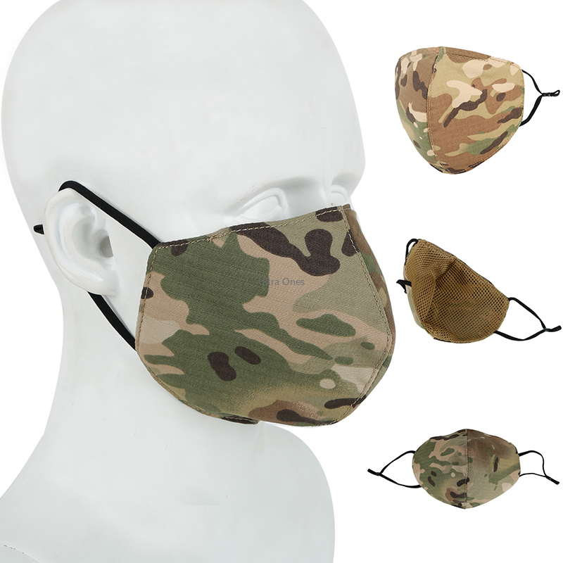 Outdoor Military Tactical Mask Hunting Paintball Protective Daily Life Mouth Face Mask Breathable Washable Cycling Masks Cloth