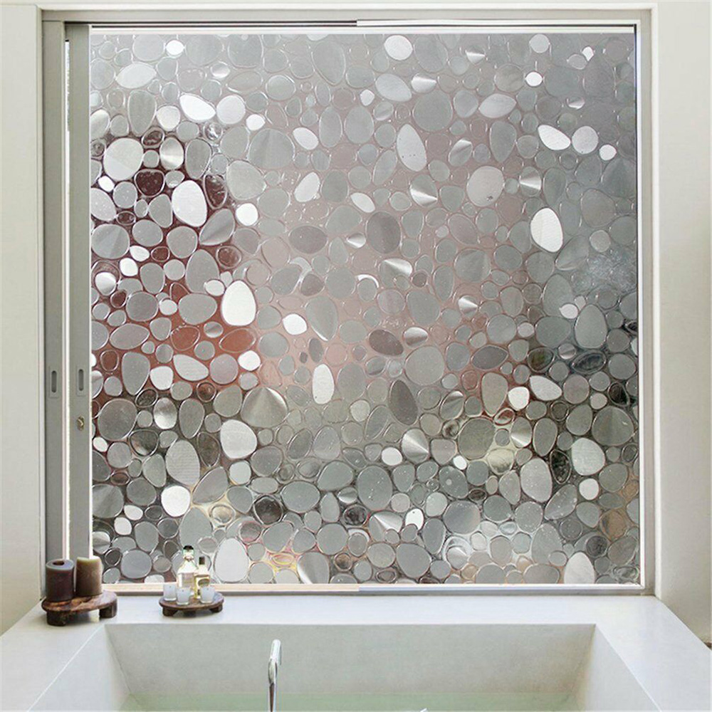 Static Cling Frosted Bathroom Window