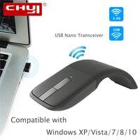2 4 Ghz Drahtlose Maus Faltbare Arc Touch Maus mit Touch Scroll Mause Computer Gaming Maus Mäuse für Microsoft Oberfläche Laptop-in Mäuse aus Computer und Büro bei