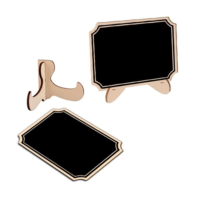 5pcs/Lot Cute Inner Corner Wooden Mini Chalkboard Blackboard Planner Wall Stickers Black Board Office School Supplies