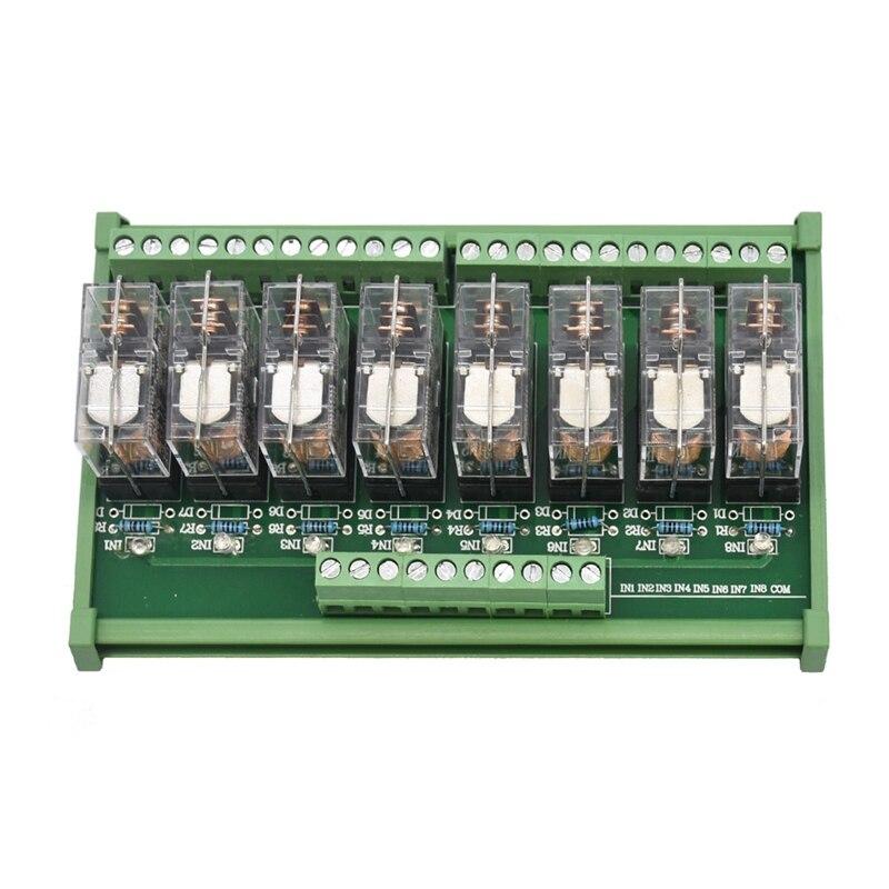 Módulo de Relé de Potência Montagem em Trilho Spdt Omron ac – dc 12 24 v Controle 8 16a G2r-1-e.x1 Din
