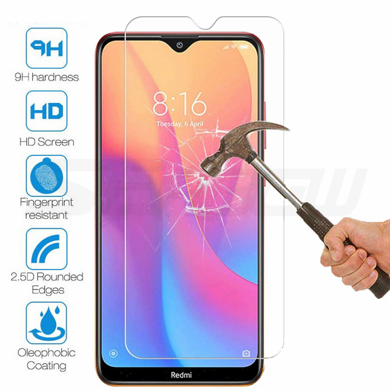 15D Protection Glass For Xiaomi Redmi 7 8 9 7A 8A 9A Tempered Screen Protector Redmi Note 7 8 8T 9S 9 Pro Safety Glass Film Case