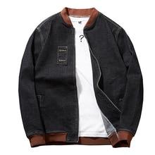 Mais tamanho 8xl 7xl moda com capuz casacos de algodão casual novo outono inverno estilo preppy magro ajuste falso duas peças denim jaqueta masculina