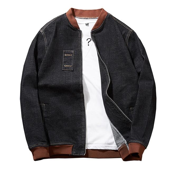 Plus size  8XL 7XL  Fashion Hooded Casual Cotton Coats New Autumn Winter Preppy Style Slim Fit Fake two pieces Denim Jacket Men