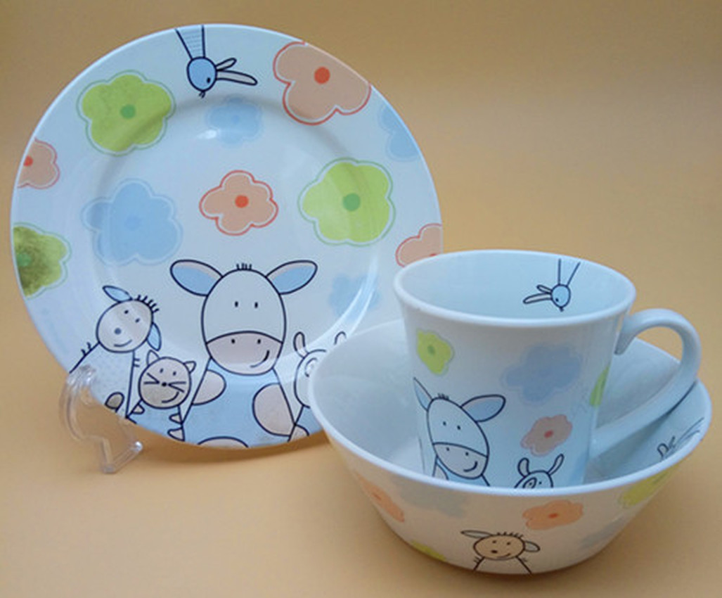 Germany Brand Children's Tableware Cup Bowl Plate diner set porcelaine  dishes and plates sets  travel cutlery  dinner set