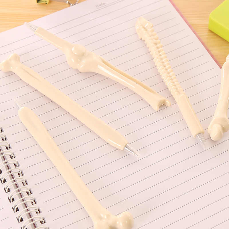 1pcs 새로운 Kawaii 뼈 스타일 펜 연필 케이스 대용량 학교 쓰기 용품 연필 가방 연필 파우치 편지지