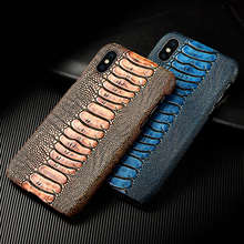 Phone case For Lenovo S5 K5 Pro Ostrich Genuine Leather coque shells bags