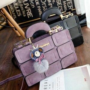 Image 4 - Moda ünlü marka kadın çanta deri postacı çantası lüks üst saplı çanta kadın Tote Crossbody çanta Bolsas Feminina