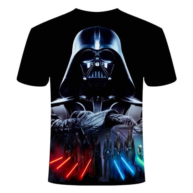 2019new 하라주쿠 티셔츠 요다/다스 베이더 스타 워즈 프린트 된 3d 티셔츠 남성/여성 티셔츠 streetwear 힙합 티셔츠 캐주얼 탑스