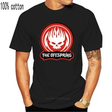 New The Offspring Skull Logo White Black Men'S T-Shir Xs - 2Xl T-Shirt Loose Size Top Ajax Tee Shirt