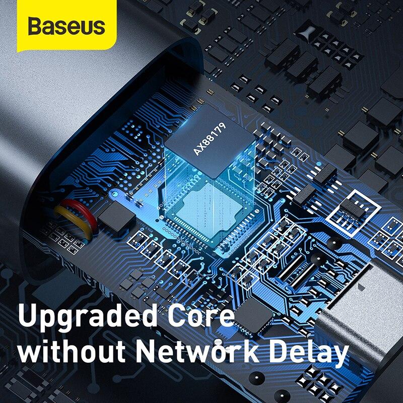 Baseus Ethernet Adapter USB Type C to RJ45 Network Card USB Converter Gigabit Lan Adapter For Notebook Macbook pro iPad Switch 6