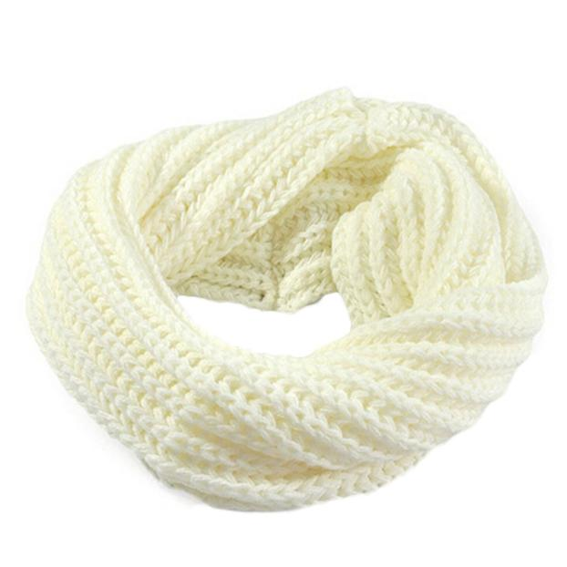 Ring   Scarf   2019 Autumn winter new Knitted Circle Wool   Scarf   Shawl   Wrap   Solid Color Winter Warm Collar ring   Scarf   for women