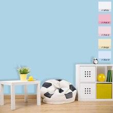 5M 마카롱 솔리드 컬러 PVC 방수 자기 접착제 벽지 거실 키즈 침실 장식 비닐 연락처 종이 주방 캐비닛