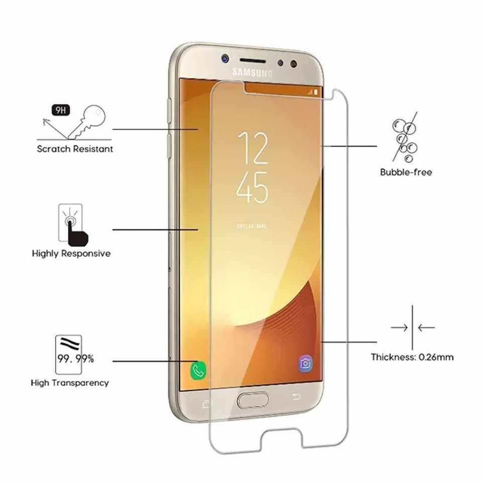 الزجاج المقسى واقي للشاشة لسامسونج غالاكسي A70 A50 A40 A30 A20 A10 A7 2018 S10 لايت زائد S8 s9 Plus طبقة رقيقة واقية