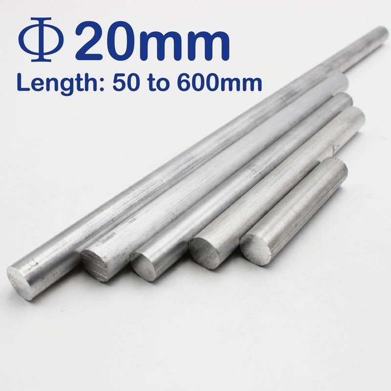 20mm Diameter Aluminum Round Bar/Rod Length 50mm To 600mm