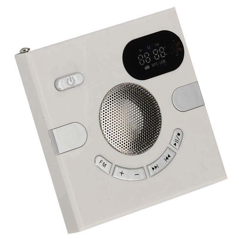 Wall Speaker Fm Radio with Time Display <font><b>Headphone</b></font> Jack Support Aux Audio Tf Card Usb Disk Mp3 Player Usb Charge image
