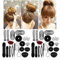 40 pçs/set mulheres diy acessórios de estilo de cabelo kit magia donut bun maker hairpins laços torção rápida modelagem ferramentas trança
