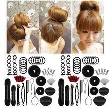 40Pcs/Set Women DIY Hair Styling Accessories Kit Magic Donut Bun Maker Hairpins