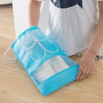 10 PCS Travel Shoe Storage Bag Bundle Mouth Bags For Shoes Waterproof Package Luggage Home Organizer Transparent Dust Bag Shoe