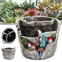 Succulent Plant Flowerpot Garden Home Flower Pot Ceramic Crafts Decoration Planter Succulent Plants Pot