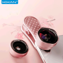 цена на 3in1 Wide Angle Mobile Phone Lens Fisheye Photo Macro Len For Camera Android  IPhone HD Photography SLR 0.67x Wide-Angle Lens