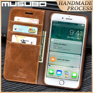 Image 2 - Musubo מקרה עבור iPhone 11 פרו מקס אמיתי עור Flip מקרי כיסוי 11 פרו Fundas יוקרה עבור iPhone Xs XR 8 7 6 בתוספת ארנק Coque