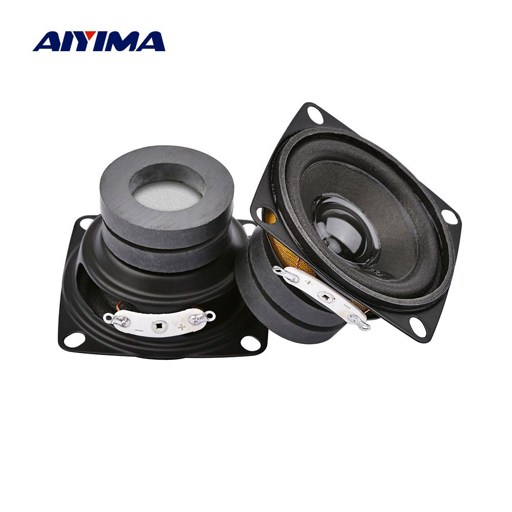AIYIMA Amplifier Speakers-Driver 2inch Portable 8-Ohm Home Theater Full-Range 2pcs 1