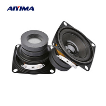 Aiyima 2 pçs 2 Polegada alto falantes portáteis driver 4 8 ohm 10w amplificador de alto falante som gama completa de teatro em casa diy