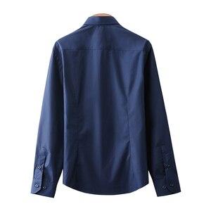 Image 4 - New High Quality 100% Cotton Mens Oxford Shirts Long Sleeve Formal Business Smart Casual Shirt Social Button Down Dress Shirt