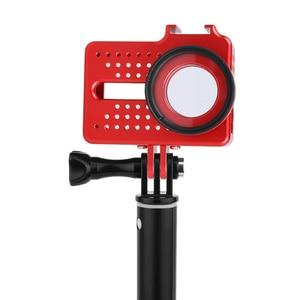 Image 3 - Dla xiaomi yi 4K akcesoria do aparatu aluminiowa obudowa metalowa obudowa ochronna + filtr UV do xiaomi yi II 4k 4K + kamera