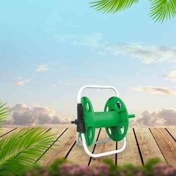 Home Garden Hose Reel Holder Rack Pipe Storage Cart Gardening Water Planting Cart Aluminum Frame Irrigation Supplies