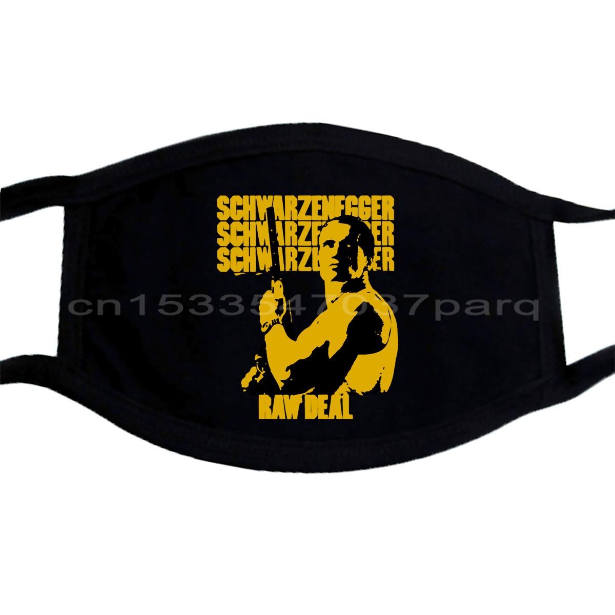 Máscara de máscara de filme de ação de arnold schwarzenegger máscara de orgulho casual legal máscara de moda unisex;