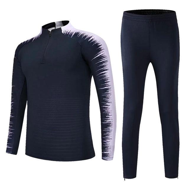 Kids Adults Soccer Jerseys Sets Survetement Football Kits Men Child Running Jackets Sports Training Tracksuit Uniforms Suit 13