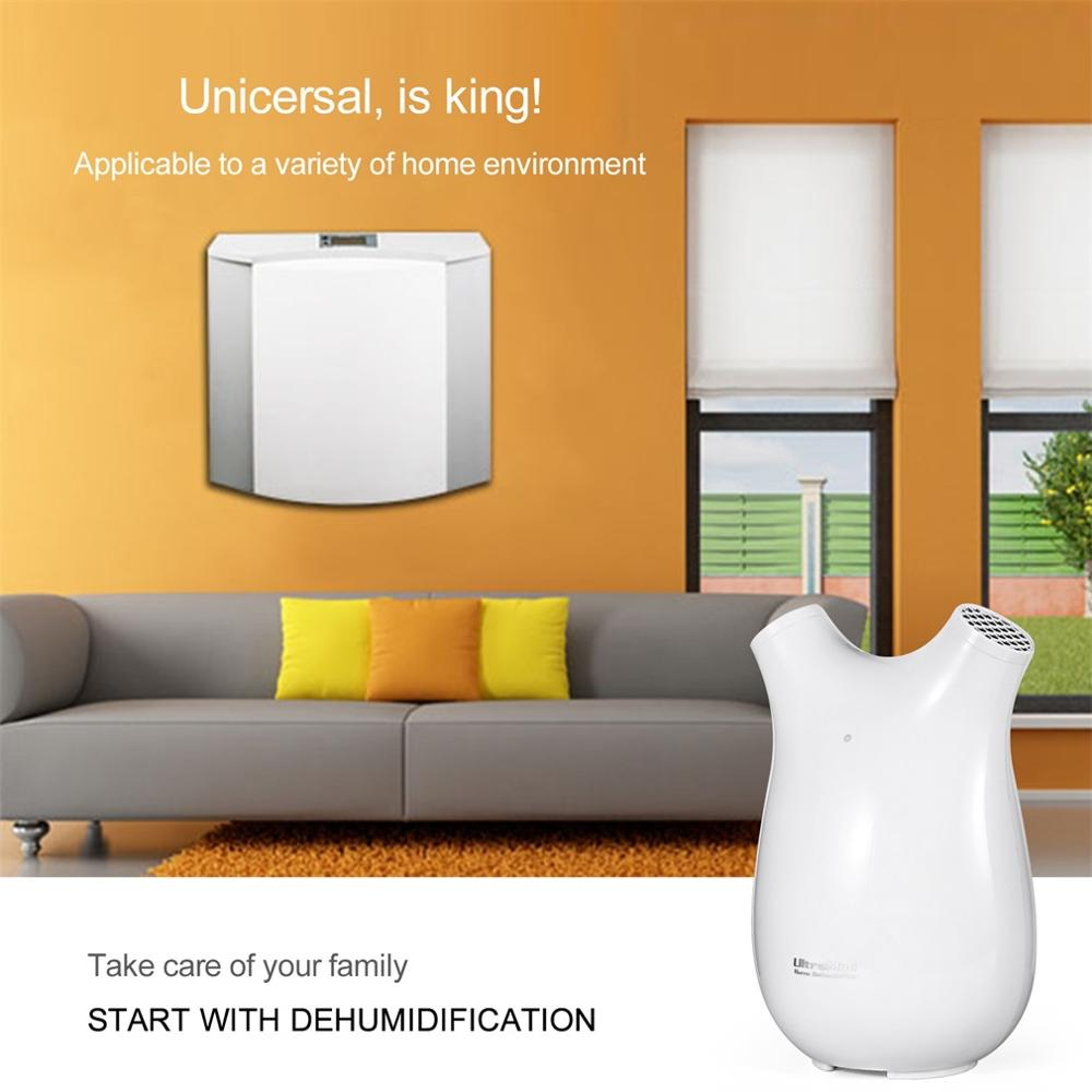 Portable Ultra-mini Semiconductor Dehumidifier Multi-mode Air Dryer Touch-screen Whisper-quiet Air Purification