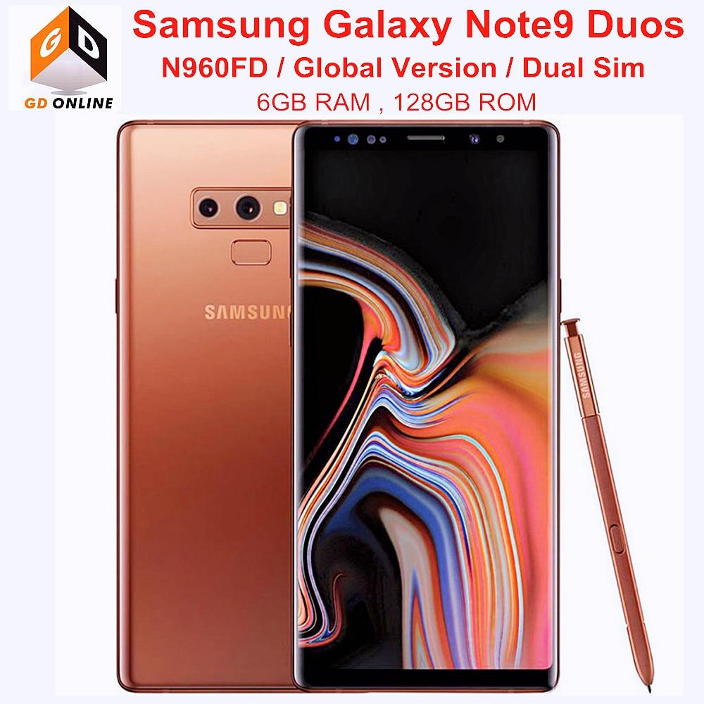 Samsung Galaxy Note9 Note 9 Duos N960FD мобильный телефон Dual Sim 128 Гб встроенной памяти 6 ГБ ОЗУ LTE Octa Core 6,4