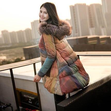 Winter Warm Plus Size OverCoat 90% Duck Down Jacket Female New Cloak A Line Hooded Abrigos Mujer Outwear LX1116