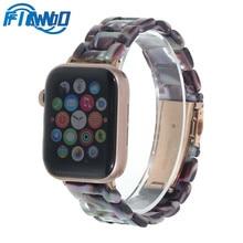цена на Fiano Imitation Ceramic Strap Band for APPLE Watch 3/2/1 42mm/38mm Iwatch Bracelet Wrist Resin Belt Watch Accessories Watchband